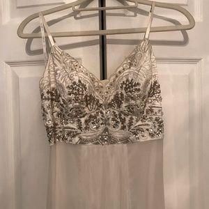 Vintage white sequins dress
